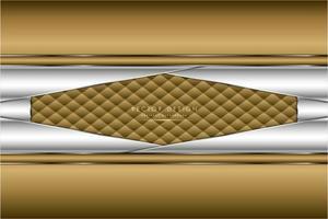 abgewinkelte Metallic-Gold- und Silber-Paneele mit Polsterstruktur
