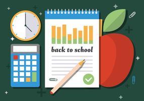 Kostenlose Willkommen zurück zu Schule Vektor-Illustration