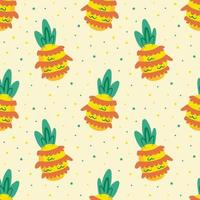 nahtloses Muster der tropischen Ananasfrucht