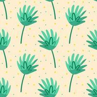 gröna söta blad sömlösa mönster vektor