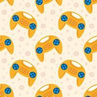 niedliche gelbe Joysticks, die nahtloses Muster fliegen
