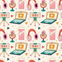 Blogging, Vlogging nahtloses Muster