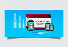 vaccinaffisch för coronavirus vektor