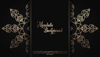 Luxus Mandala Hintergrund vektor