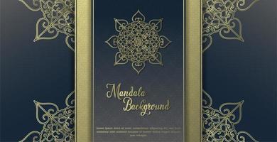 Luxus Mandala blauen Hintergrund vektor