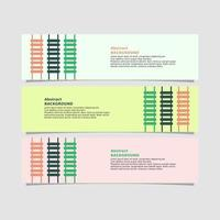 stege stil banner i tre färger