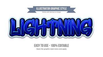 blaue helle Graffiti-Typografie vektor