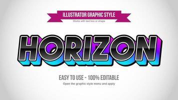 lila und blau 3d schwarz glänzend Großbuchstaben Typografie vektor
