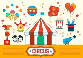 Gratis cirkusvektorillustrationer