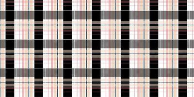 kariertes nahtloses Muster des karierten rosa und schwarzen Plaids vektor