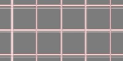 nahtloses Muster aus grauem rosa Tartan-Plaid vektor