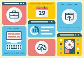 Gratis Flat Digital Marketing Vector Infography