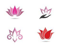 Lotus Symbol Logo Set vektor