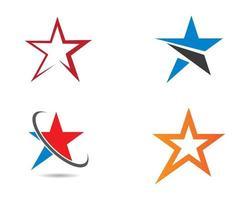 Stern-Logo-Symbole eingestellt