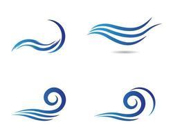 vågsymbol Ikonuppsättning