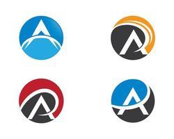 Buchstaben '' a '' Symbol Logos vektor