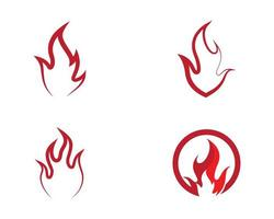 Feuersymbol-Symbolsatz vektor