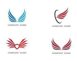 Flügel Logo Symbole gesetzt vektor