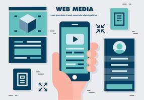 Free Flat Web Media Vektor-Illustration