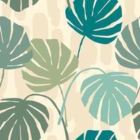 sömlösa mönster med abstrakta blad vektor