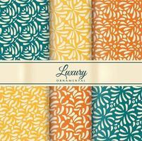 Designpaket mit sechs dekorativen Mustern vektor