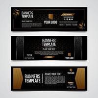nedre tredje svart och guld silver färgglada lyx design webbmall vektor
