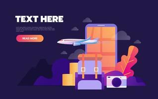 Sommerferien Urlaub Online-Buchungskonzept