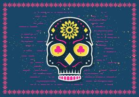 Gratis Halloween Sugar Skull Vector Illustration