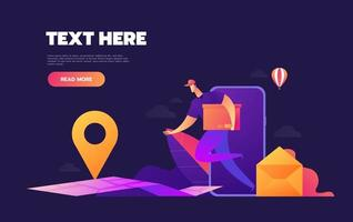 leveranskoncept för e-handel vektor