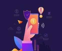 handinnehavstelefon för mobil datasäkerhet