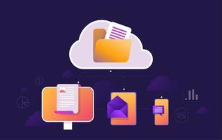 Online-Nachrichten lesen Mobile App-Konzept vektor