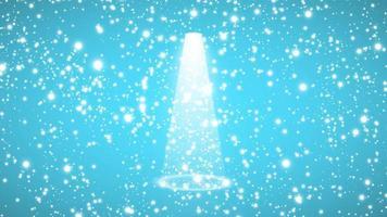 blauer Hintergrund und Lichter glänzend vektor