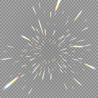 holografiska transparenta reflexioner blossar i