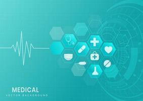 medizinischer und wissenschaftlicher Hintergrund. vektor