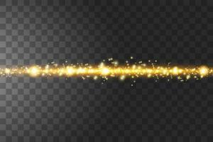 glöd isolerade gyllene transparent effekt. vektor