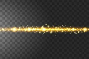 glühen isoliert goldenen transparenten Effekt.