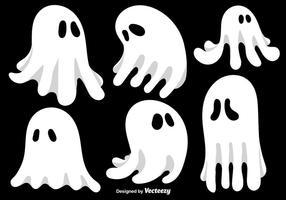 Tecknade Ghosts Vector Set