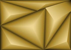 goldenes Polygonmuster