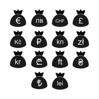 Europa Währungssymbole vektor
