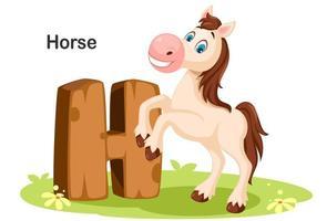 h för häst