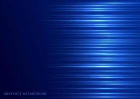 Licht horizontal auf blauem Hintergrund