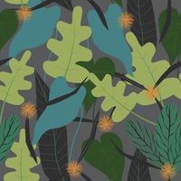 frischer tropischer Blumenhintergrund vektor