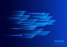 zukünftiger Technologiehintergrund der blauen geometrischen Linien vektor