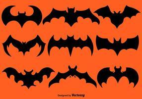 Vektor Set Of Black Bat Silhouettes