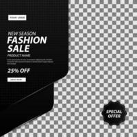 snygg mörk mode sociala medier efter försäljning mall vektor