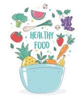 Schüssel mit gesundem Essen