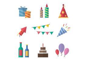 Freie Party Icons Vektor