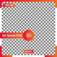 Orange Retail Social Media Post Layout-Vorlage
