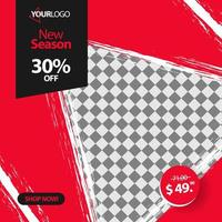 triangel sociala medier post banner mall vektor