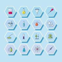 uppsättning av laboratorium ikoner